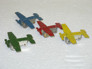 4 OLD ANTIQUE TOY METAL AIRPLANES