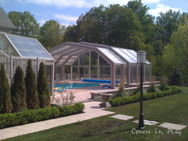 Buy automatic retractable pool covers from coversinplay for Retractable pool enclosures canada