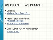 Residential/commercial cleaning service